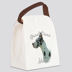GreatDaneharlequinMom Canvas Lunch Bag