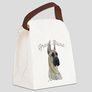 GreatDanebrindleMom Canvas Lunch Bag