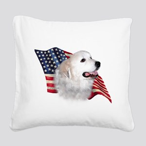 GreatPyrFlag Square Canvas Pillow