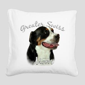 Greater SwissMom Square Canvas Pillow