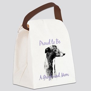 GreyhoundMom1 Canvas Lunch Bag