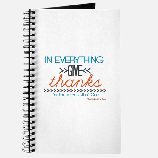 In Everything Give Thanks Journal