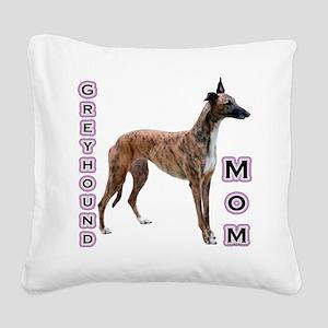 GreyhoundMom Square Canvas Pillow