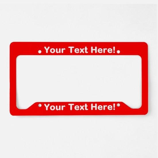 Unique Red License Plate Holder