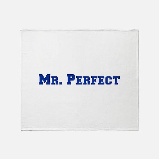 mr-perfect-fresh-blue Throw Blanket