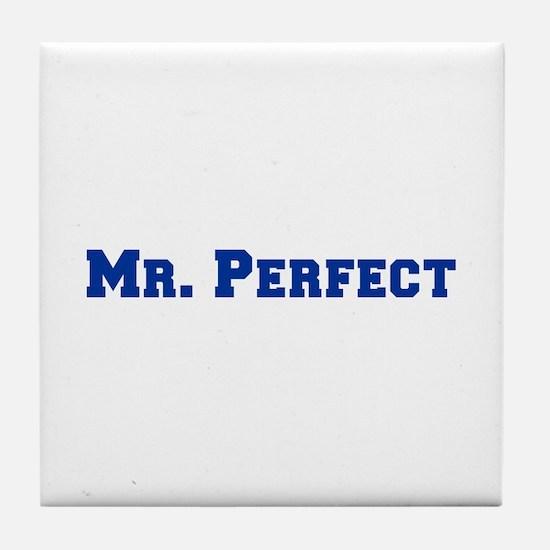 mr-perfect-fresh-blue Tile Coaster