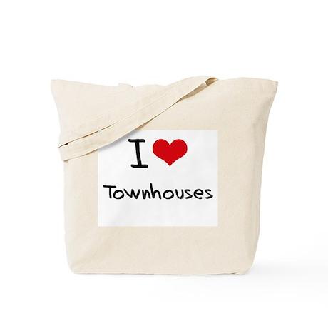 I love Townhouses Tote Bag