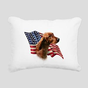 IrishSetterFlag Rectangular Canvas Pillow