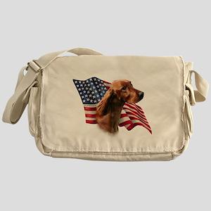IrishSetterFlag Messenger Bag
