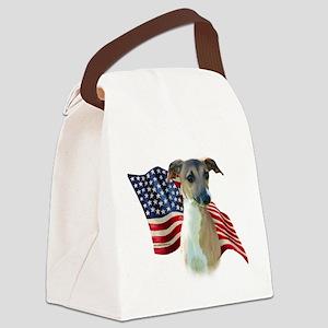 ItalianGreyFlag Canvas Lunch Bag
