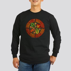 Celtic Autumn Leaves Long Sleeve Dark T-Shirt