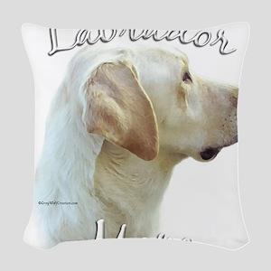 LabradoryellowMom Woven Throw Pillow