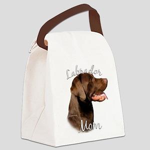 LabradorchocolateMom Canvas Lunch Bag