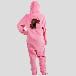 LabradorchocolateMom Footed Pajamas