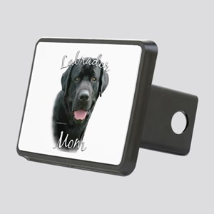 Labrador black Mom Rectangular Hitch Cover