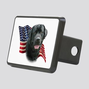 Black Lab Flag Rectangular Hitch Cover