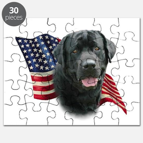 Black Lab Flag Puzzle