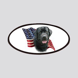 Black Lab Flag Patches