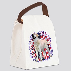 LabyellowPatriot Canvas Lunch Bag