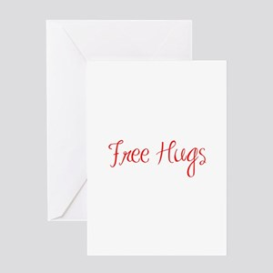 free-hugs-sexy-red Greeting Card