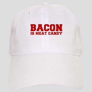 bacon-is-meat-candy-fresh-brown Baseball Cap