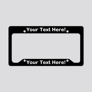custom license plate frames cafepress