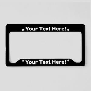 Custom license plate frames cafepress custom text black license plate holder solutioingenieria Images