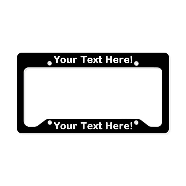 Custom license plate frames cafepress custom text black license plate holder negle Choice Image