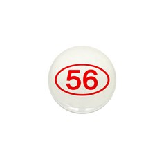 Number 56 Oval Mini Button (100 pack)