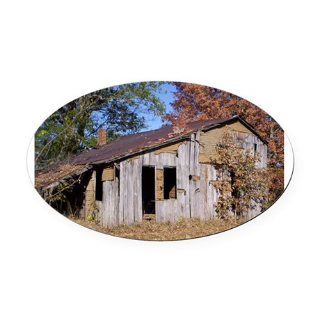 Old Homestead Oval Car Magnet