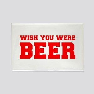 wish-you-were-beer-fresh-red Rectangle Magnet