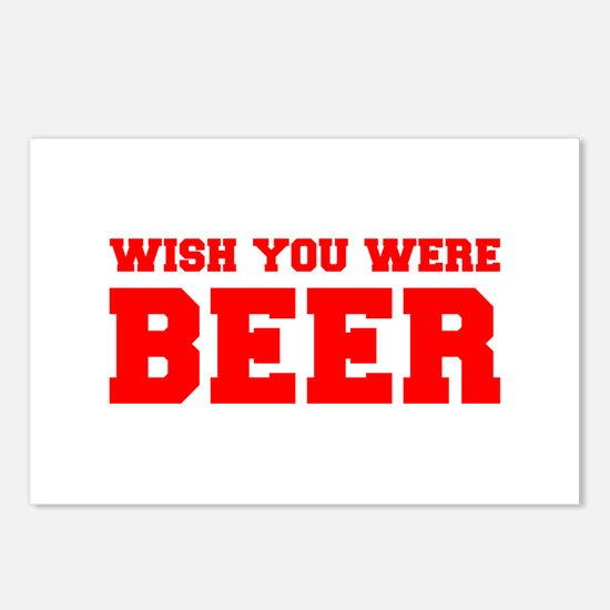wish-you-were-beer-fresh-red Postcards (Package of
