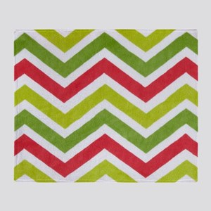 Chartreuse Chevron Throw Blanket