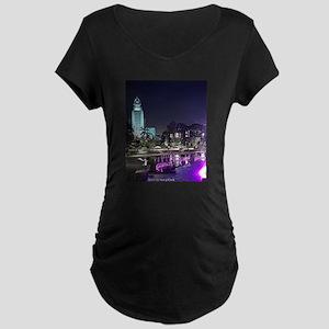 View of Grand Park at night Maternity T-Shirt