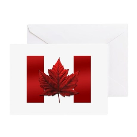 Canada Flag Souvenir Cards 10 pk Maple Leaf Cards