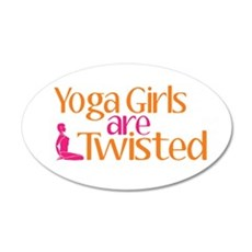 Yoga Girls Are Twisted Wall Decal