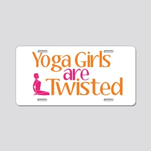 Yoga Girls Are Twisted Aluminum License Plate