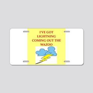 lightning Aluminum License Plate