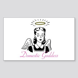 Domestic Goddess Rectangle Sticker