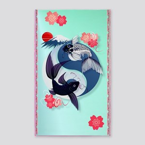 Yin and Yang Koi 3'x5' Area Rug