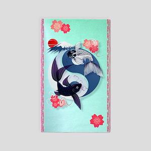Yin and Yang Koi 3'x5' Area Rug