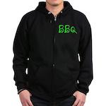 BBQ green Zip Hoody