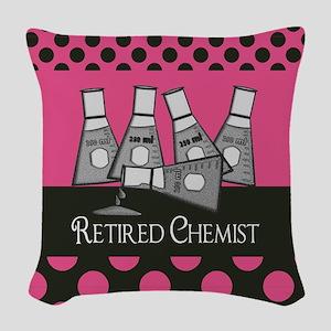 Retired Chemist 4 Woven Throw Pillow