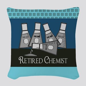 Retired Chemist 3 Woven Throw Pillow