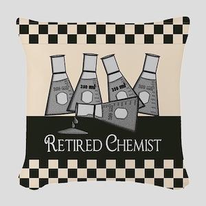 Retired Chemist 2 Woven Throw Pillow
