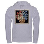 Edelweiss Bouquet Hooded Ash Grey Sweatshirt