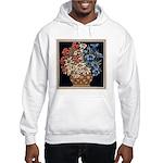 Edelweiss Bouquet Hooded Ash Grey Sweatshirt