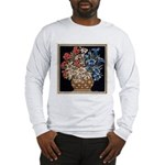 Edelweiss Bouquet Long Sleeve Ash Grey T-Shirt