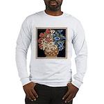 Edelweiss Bouquet Long Sleeve Ash Grey T-Shirt