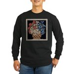Edelweiss Bouquet Men's Long Sleeve Black Tee